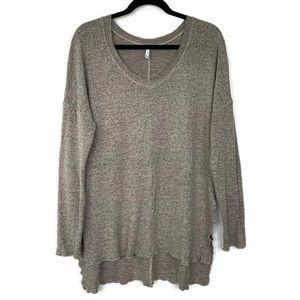 Z Supply Marled Sweater Tunic XS Beige